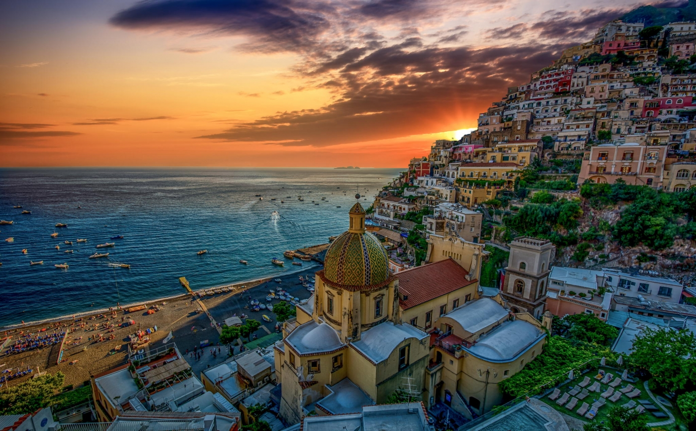 500px.com: Sunset time in Positano by Mihai Cazacincu