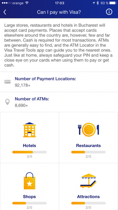 visa travel tools - bucuresti